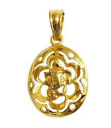 Gold Plated Ganesha Pendant