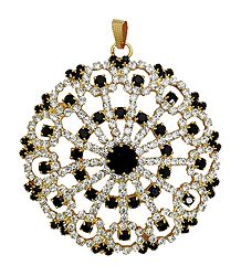 Faux Zirconia and Garnet Stone Studded Pendant