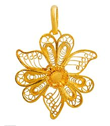 Gold Plated Metal Pendant
