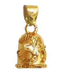 Gold Plated Metal Om Pendant