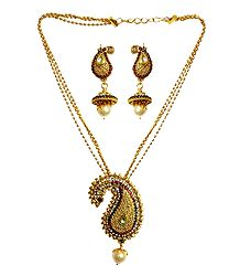Pendant with Chain and Earrings