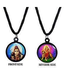 Double Sided Deity Pendant with Black Cord