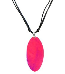 Dark Pink Lacquered Shell Pendant
