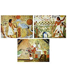 Set of 3 Egyptian Posters