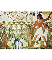 Offering of Calf and Bulls (From an Egyptian Painting)