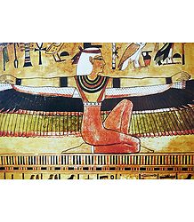 Isis Spreading Her Winged Arms (From an Egyptian Painting)