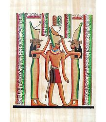 Coronation of Ramses (Reprint From an Egyptian Painting)