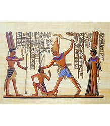 Depiction of Punishment (Reprint From an Egyptian Painting)