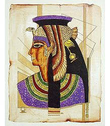 Queen Cleopatra (Reprint From an Egyptian Painting)