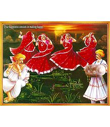 Gujrati Folk Dancers