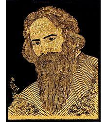 Rabindranath Tagore - Glitter Picture on Cardboard