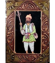 Ektara Player - Print on Hardboard - Wall Hanging