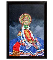 Kathakali Dancer - Framed Picture