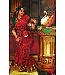 Lady with Swan - Poster