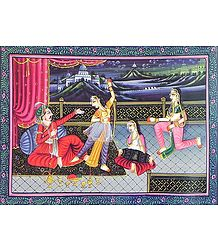 Courtesans Entertain the King