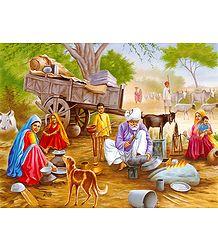 Village Blacksmith - Poster