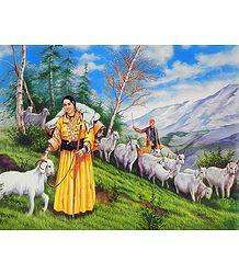 Himachali Shepherd Couple