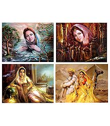 Indian Beauties - Set of 4 Posters