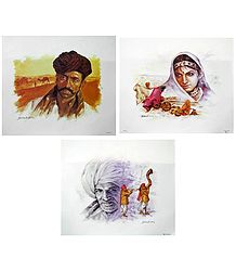 Rajasthani People - Set of 3 Posters