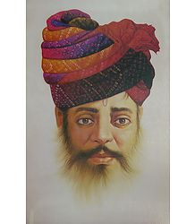 Portrait of Rajput Man - Poster