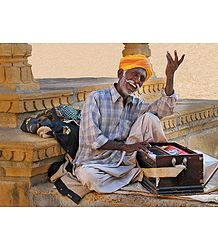 Folk Singer from Rajasthan, India