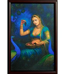 Rajput Beauty on Laminated Board