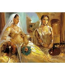 Rajput Princess and Her Maid