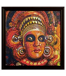 Theyyam Dancer - Wall Hanging Framed Picture