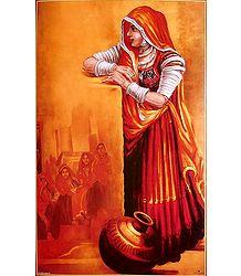 Rajasthani Woman - Poster