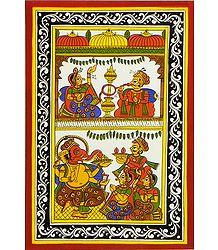 Royal Couple and Ganesha Puja