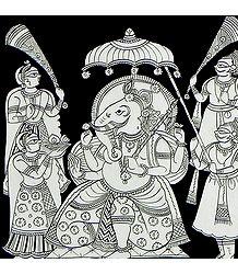 The Adored Elephant Headed Lord Ganesha