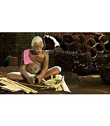 Basket Weaver - Unframed Photo Print on Paper