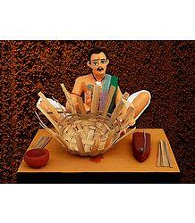 Basket Weaver Photo - Unframed Photo Print on Paper