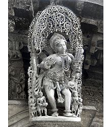 Apsara - Temple Sculpture from Belur, Karnataka, India - Photo Print