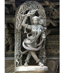 Beautiful Maiden - Temple Sculpture from Belur, Karnataka, India