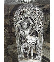 Dancing Lady - Temple Sculpture from Belur, Karnataka, India