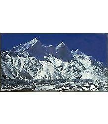 Bhagirathi Peak (6856 mtrs.) from Gaumukh, Uttarakhand, India - Photographed by Ashok Dilwali