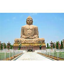 Statue of Buddha, Bodhgaya, Bihar - Buy Photo Print -