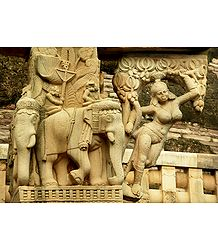 Buddhist Sculpture from Sanchi Stupa, Madhya Pradesh