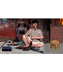 Cobbler Photo - Unframed Photo Print on Paper