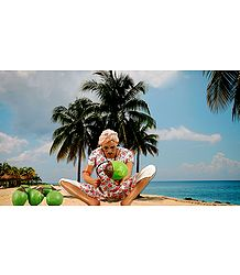 Coconut Seller Photo - Unframed Photo Print on Paper