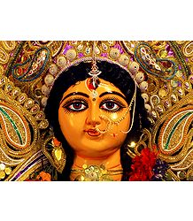 Face of Goddess Durga