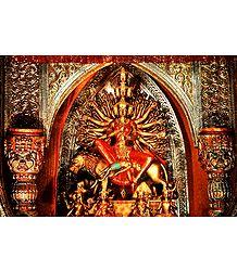 Buddhist Style Durga - Photographic Print