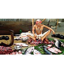 Fish Seller - Unframed Photo Print on Paper
