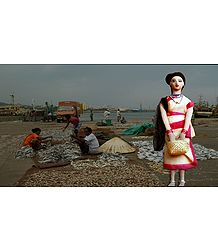 Fisherwoman Photo - Unframed Photo Print on Paper
