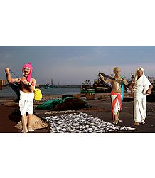 Fishermen Photo - Unframed Photo Print on Paper