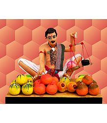 Fruit Seller Photo - Unframed Photo Print on Paper
