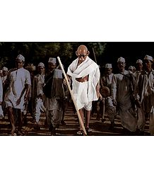 Mahatma Gandhi in Dandi March - Unframed Photo Print on Paper