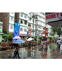 M.G Road Market During Rain, Gangtok - East Sikkim, India