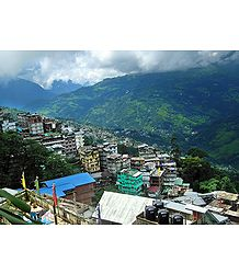 Gangtok City from M.G Road - Photographic Print